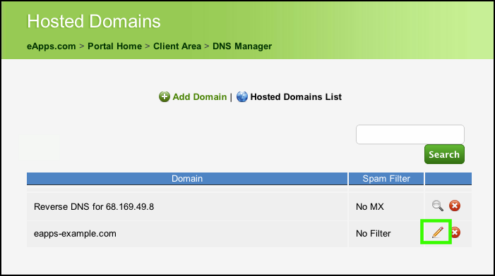 Hosted Domains List
