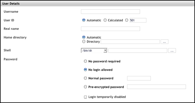 Webmin Control Panel (eApps) - Managing Users and Groups - Powered