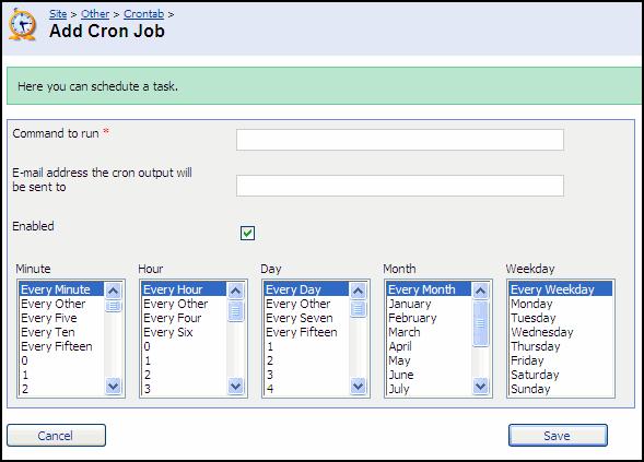 User Guide - Adding a Cron Job - Powered by Kayako Help Desk
