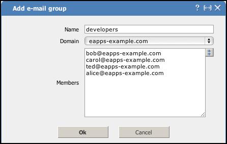 Add e-mail group