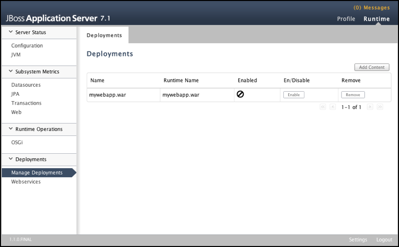JBoss 7 application deployment without Apache - Powered by