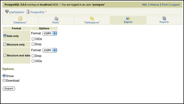 PostgreSQL 9 and phpPgAdmin - Powered by Kayako Help Desk