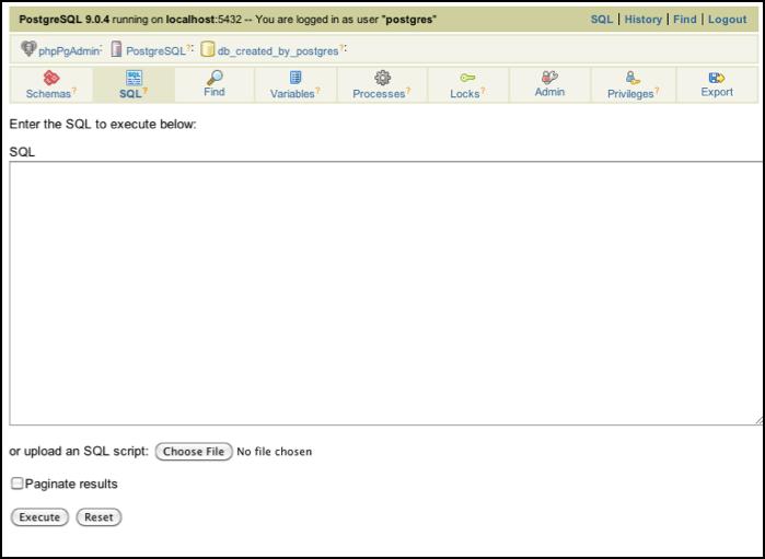 PostgreSQL 9 and phpPgAdmin - Powered by Kayako Help Desk Software