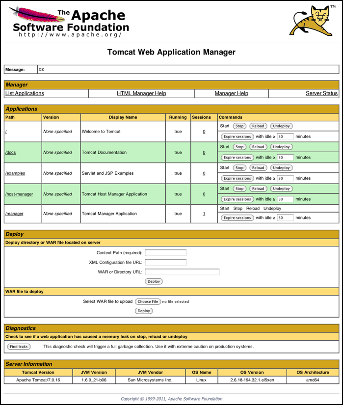 Tomcat Manager