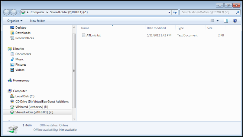 Vpn network folder